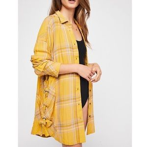 Free People Nordic Day braided side button Down XS